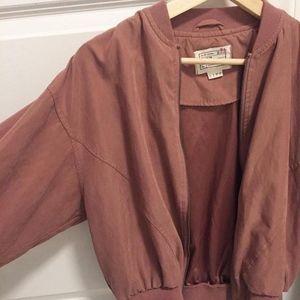 Mauve pink bomber jacket